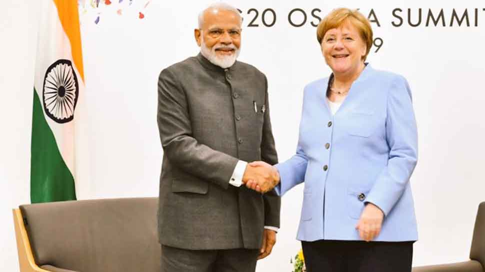 PM Modi meets German Chancellor Angela Merkel