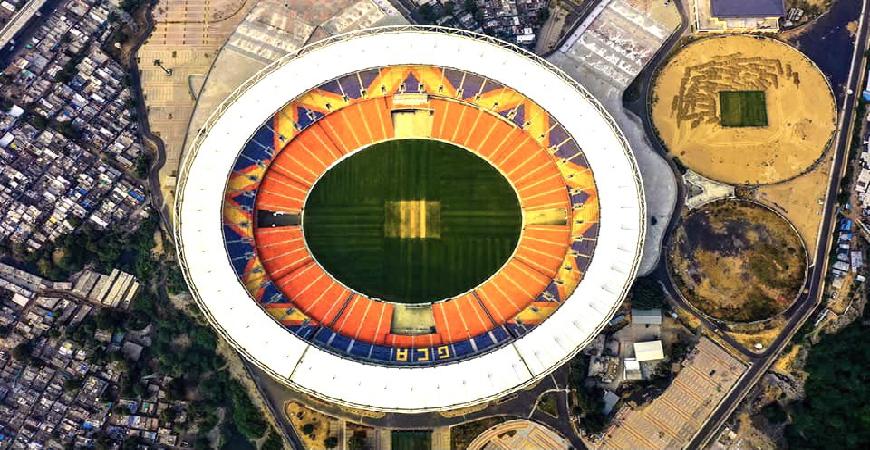 સરદાર વલ્લભભાઇ પટેલ સ્પોર્ટસ એન્કલેવનું ભૂમિપૂજન અને વિશ્વના સૌથી મોટા ક્રિકેટ સ્ટેડિયમનું લોકાર્પણ.