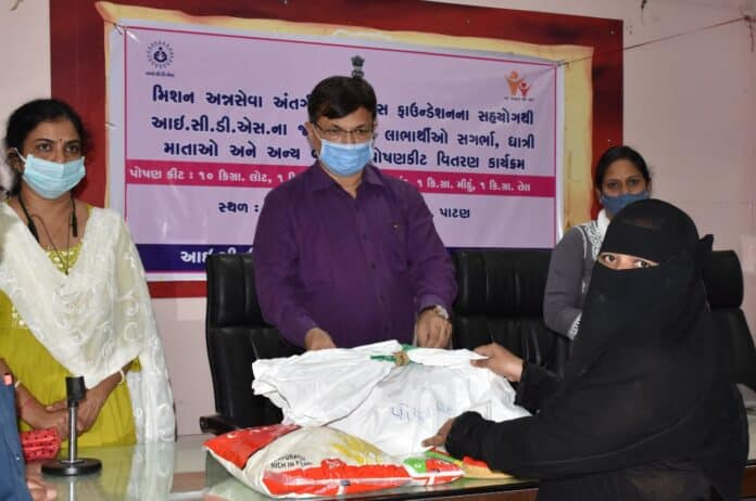 Patan Distribution of nutrition kits to pregnant mothers